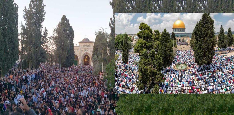 আল-আকসায় ঈদের নামাজে লাখো মুসল্লি